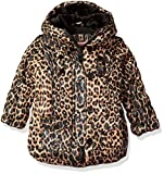 Urban Republic Baby Ur Girls Polyfil Jacket, Brown/Leopard, 24M