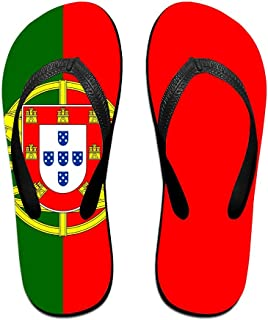 Portuguese Flag Comfortable Flip Flops For Children Adults Men And Women Beach Sandals Pool Party Slippers