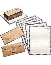 Podróżny papier pa w stylu vintage z koordynującymi kopertami, 48 szt
