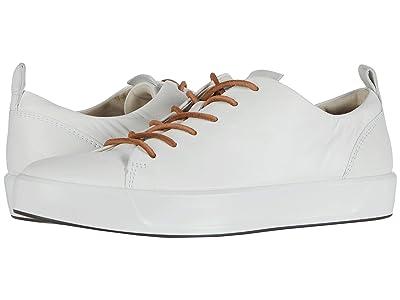 ECCO Soft 8 Dri-Tan LX Sneaker (White Calf Leather) Women