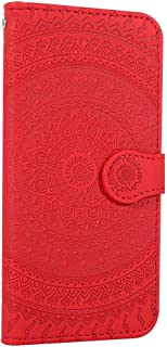 NEXCURIO Wallet Case for Huawei P Smart+ 2019/Honor 10i with Card Holder Side Pocket Kickstand, Shockproof Leather Flip Cover Case for Huawei P Smart Plus 2019 - NEHME020530 Red