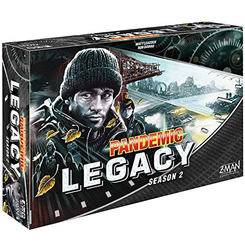 Z-Man Games ZM7172 Pandemic Legacy Season 2 ,Black Version, Brettspiel englisch