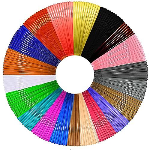 Senmubery 3D Pen Filament PLA Refills 20 Colors, 16 Ft Per Color Total 320 Ft 1.75mm Premium Filament for 3D Printing Pen Comes