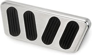 Lokar BAG-6123 Brushed Billet Aluminum Automatic Brake Pad with Rubber