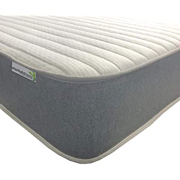 Starlight Beds - Kingsize Mattress. Kingsize Memory Foam Mattress. 5ft Memory Foam Sprung Mattress with Luxurious Jersey Knitted Fabric