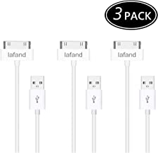 Iafand (3 Pack) iPhone 4S Cable, 3-Pack USB Sync and Charging Cable for iPhone 4/4S, iPhone 3G/3GS, iPad 1/2/3, iPod - 3 Feet / 1 Meter