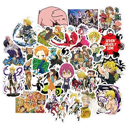 ZZHH Japan Anime Sins Stickers Waterproof for DIY Guitar Laptop Skateboard Kids Toys Sticker 50Pcs/Lot
