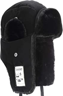 Trooper Winter Hat, Ushanka Skiing Hunting Hats, Unisex Style with Warm Ear Flap Fur Winderproof Bomber Hat