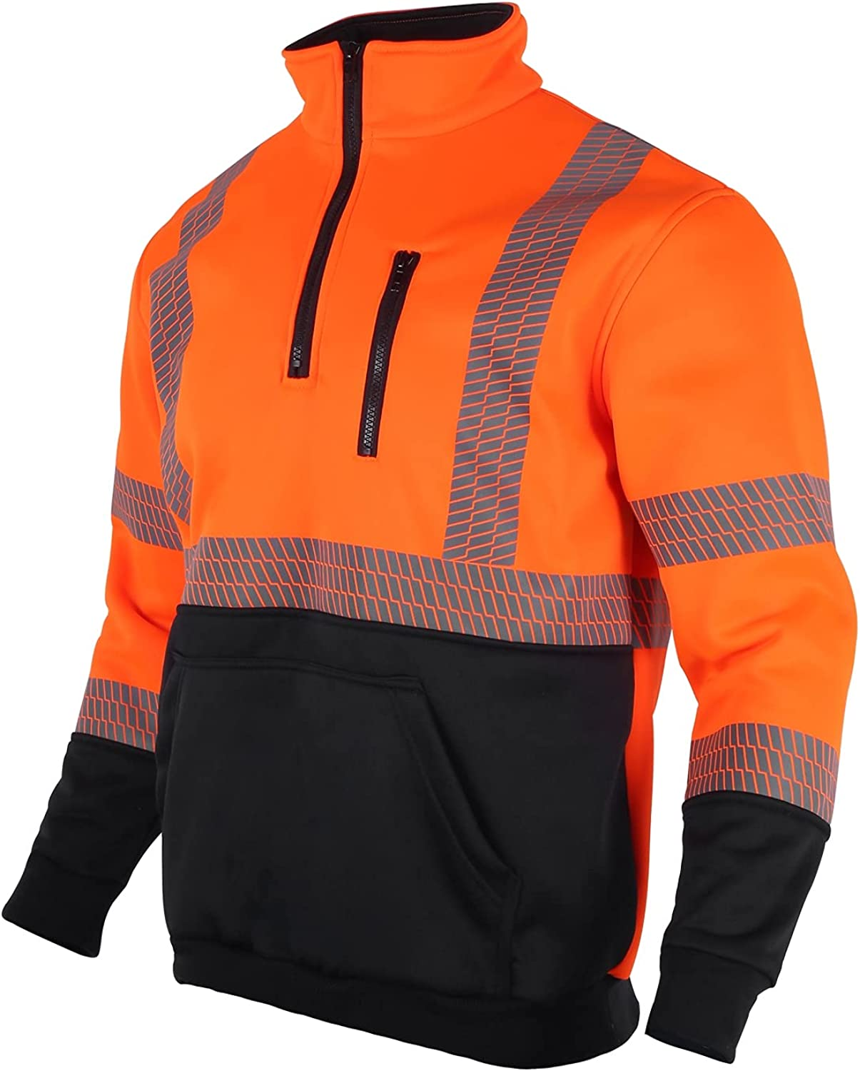 VENDACE Hi Vis Direct stock discount Safety Reflective Sweatshirt for Seattle Mall Class Men ANSI 3