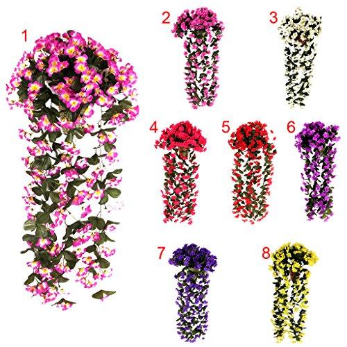 Hängenden Künstliche Blumen Girlande Kranz Hochzeit Dekor - Weiß