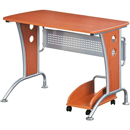 "TECHNI MOBILI RTA-8338-DH33 Modern Computer Desk with Mobile CPU Caddy, 43""W x 24""D x 30""H, Dark Honey"