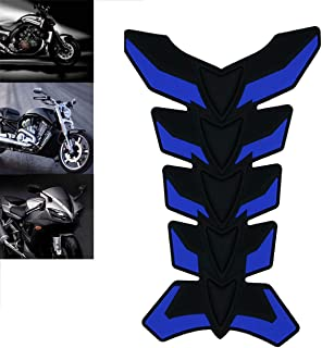 ROADMANSO Motorcycle Gas Tank Pad Protector Sticker Decal 3D Rubber Black and Blue for Harley-Davidson Honda Suzuki Yamaha