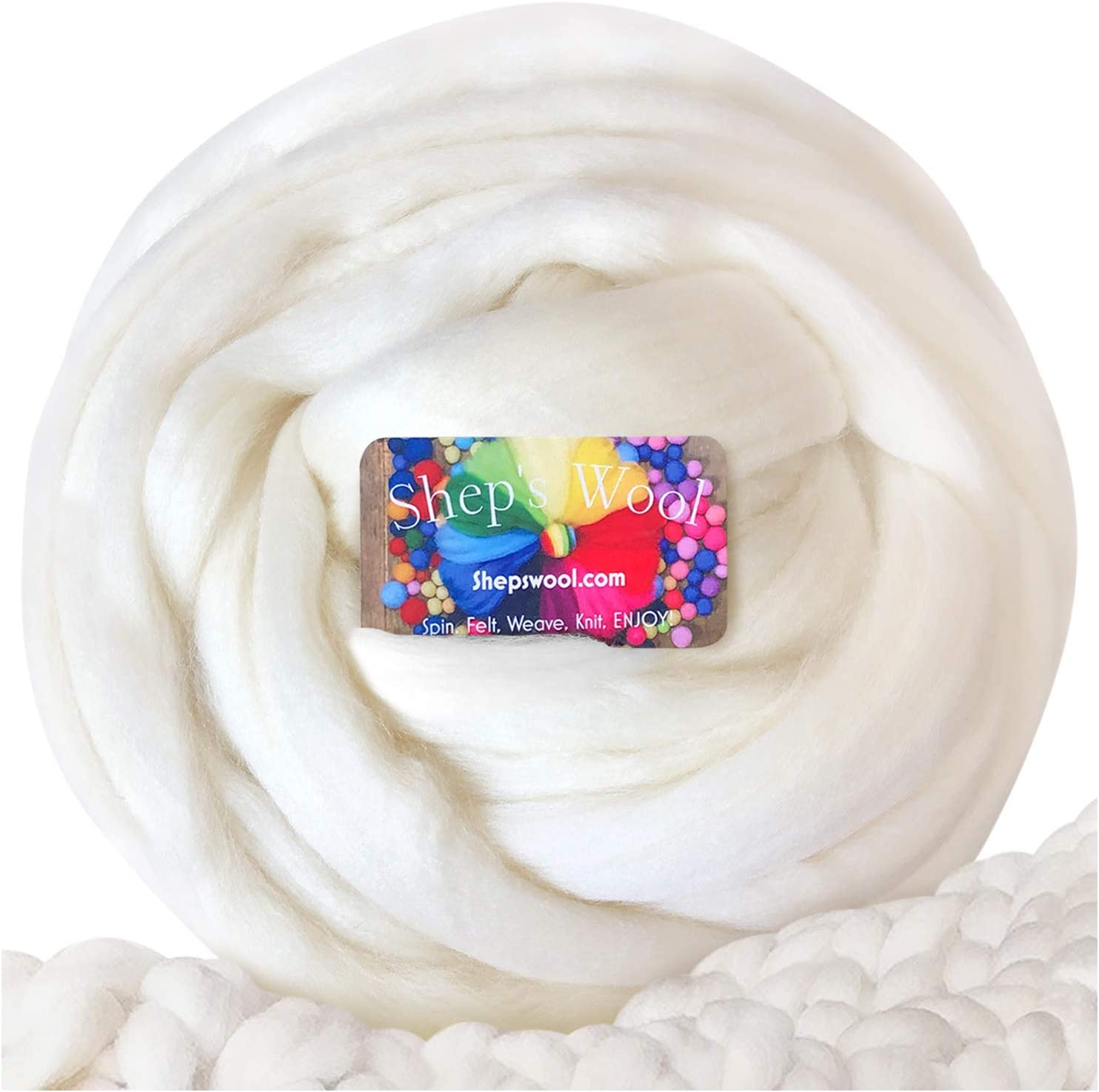 Wool Roving Safety and trust Quantity limited Chunky Yarn for Arm U Knitting Spinning Organic