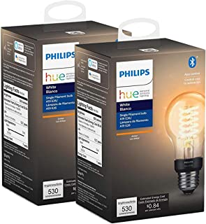 Philips Hue Filament Vintage A19 with Bluetooth - 2pack