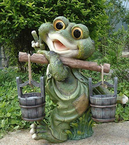 Frosch XXL 38 cm Hoch Deko Garten Gartenzwerg Figuren Dekoration (´38 cm 11169-3)