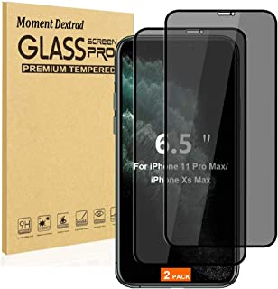 Designed for iPhone 11 Pro Max Screen Protector Tempered Glass,iPhone Xs Max Screen Protectors,Privacy Anti-Spy [Case Frie...