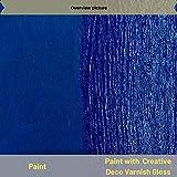 Creative Deco Glanz-Lack Firnis   500 ml Flasche   Oberflächenfinish auf Wasserbasis   Permanenter farbloser Lack   Verwendung im Innen- und Außenbereich   Perfekt für Bastelprojekte und Gemälde - 6