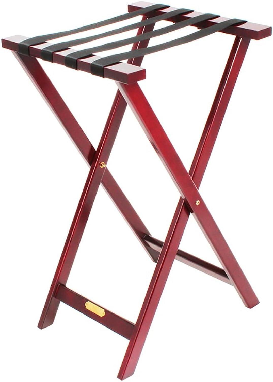 SH-xlj Faltbarer Gepäckträger, hölzerner Faltbarer Koffer-Gestell als Gepäck-Stützstand-Behälter-Stand-Koffer-Regal-Rucksack-Organisator 53  46  83CM B07FFHZMJN