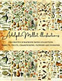 Adolphe Millot Illustrations | Decorative Scrapbook Paper Collection: Insects, Fruits, Champignons, Flowers and Poissons: Premium Scrapbooking Sheets ... Gift Wrapping, Card Making and More