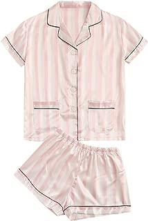 Milumia Women's Animal Print Notch Collar Sleepwear Two Piece Pajama Set