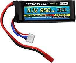 Lectron Pro 11.1V 950mAh 30C Lipo Battery with JST Connector for The Blade 200 SR X, CX4, T-Rex 250