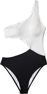 Women's Candy Rain One Shoulder One-Piece Swimsuit Bathing Suit