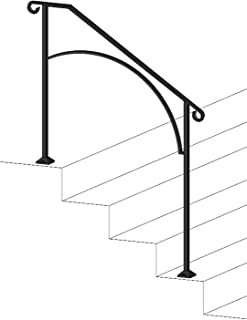 Iron X Handrail Arch #3 (Wood or Composite Steps)