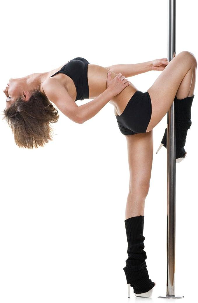 Klarfit Gold Dust Barra de Baile giratoria/Fija 2,74m (Pole Dance Acero Inoxidable, Titanio Dorado 45mm, Antideslizante, Pole Fitness, Aerobic, ...
