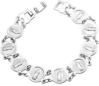 U7 Virgin Mary Jewelry Set Women Bride Wedding Platinum/Rose Gold / 18K Gold Plated Miraculous Medal Bracelet Necklace & Earrings Sets