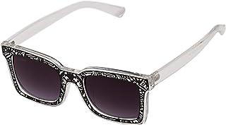 Sky Vision Rectangle Sunglasses for Unisex, Black Lens, Z001C9