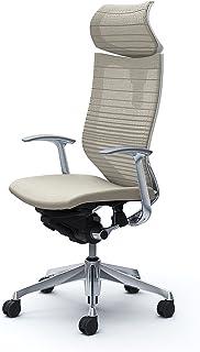 オカムラ オフィスチェア バロン 可動ヘッドレスト グラデーションサポートメッシュ 固定肘 ホワイト CP41BW-FGR2