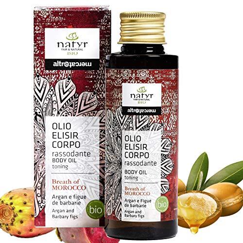 Natyr Bio Körperöl mit Arganöl und Feigenkaktus 100 ml - straffend und festigend mit anregend orientalischem Duft - Serie