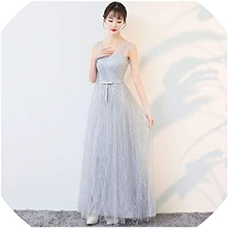 Cheongsam Gray Oriental Party Wedding Female Noble Cheongsam Off Shoulder Evening Dress