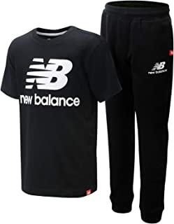 New Balance Boys' Active Jogger Set - Short Sleeve Performance T-Shirt and Sweatpants Set (2 Piece)
