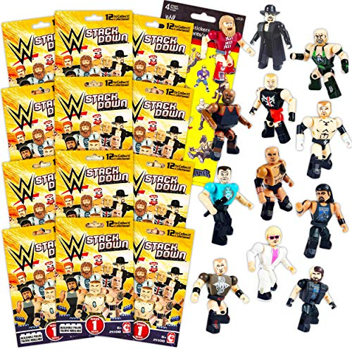 WWE Blind Bags Bundle WWE Action Figure Set - 12 Pack WWE Toys for Kids Toddlers WWE Party Supplies Birthday (WWE Blind Box Activity Set)