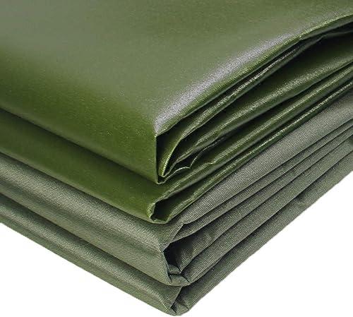 KYSZD-Baches Vert Bache Tente Toile imperméable Couverture Lourde Fibre de Polyester Isolation Anti-Pluie Anti-Pluie Résistant à l'usure épaisseur de PVC 0.7mm 12 Taille 600g   m2