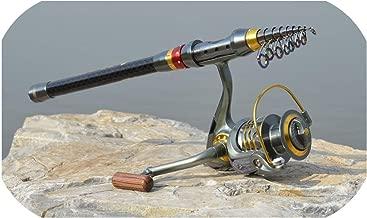Thread FRP Fishing Rod Ultralight Hard Fishing Pole for Stream Freshwater WHShopping,White,5.4 m