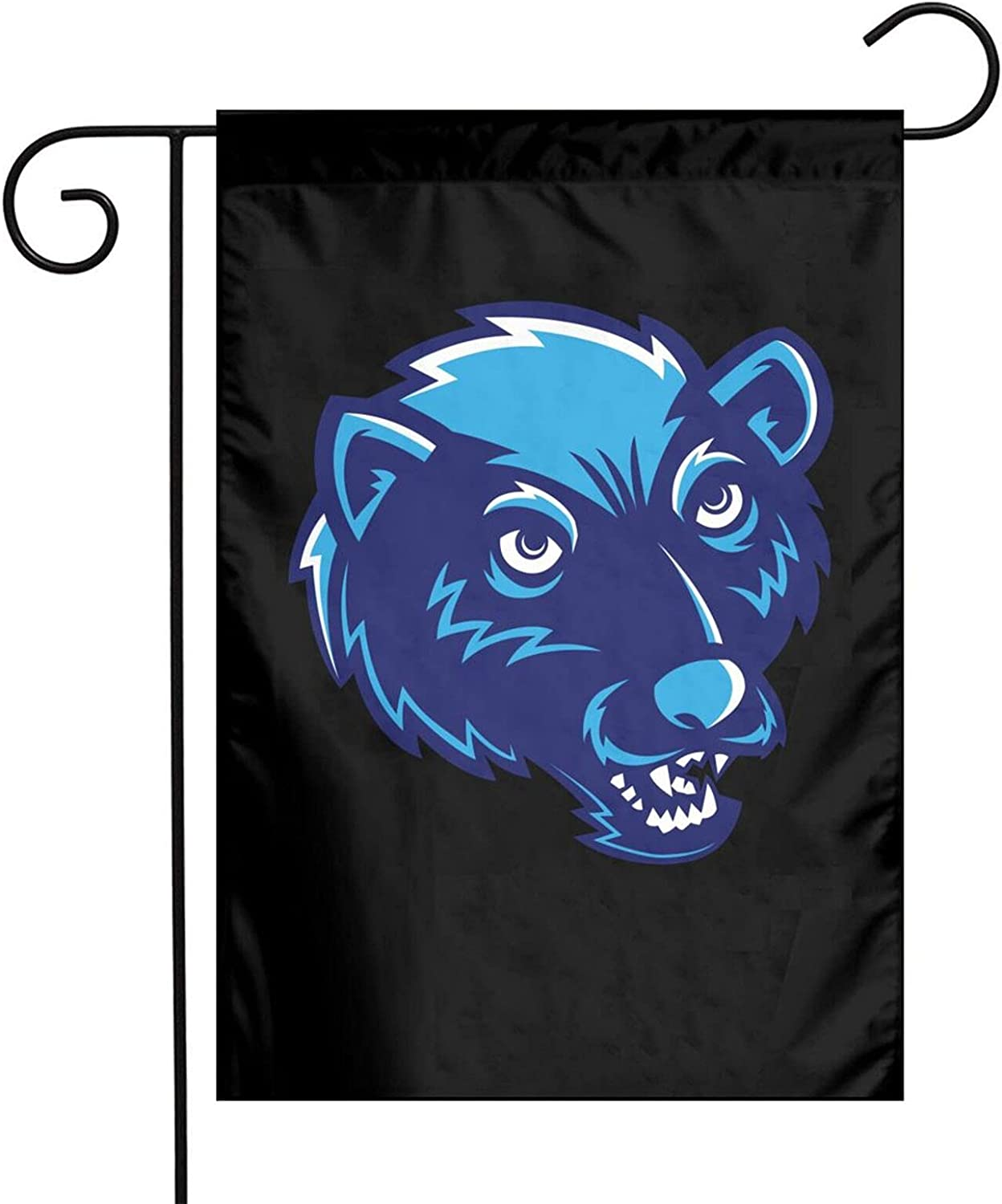 Inspier White Nerdy Grizzly Head Garden Flag 12 X 18 Inch Flag Welcome Garden Flag Vertical Double Sided for Yard Decoration