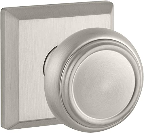 popular Baldwin PVTRATSR150 Reserve high quality Privacy online Traditional with Traditional Square Rose in Satin Nickel Finish outlet online sale
