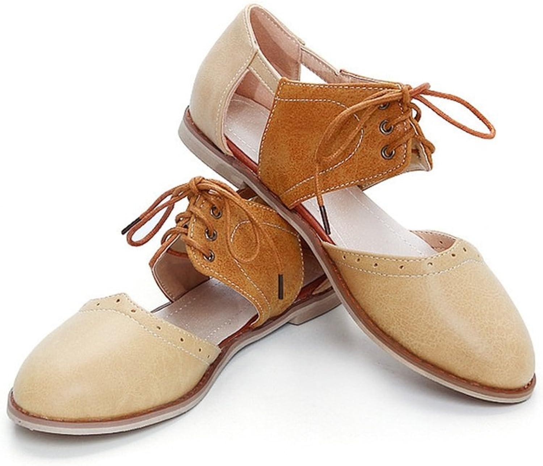 Woherrar skor PU sommar Fall Comfort Sandals Sandals Sandals Flat Heel Point Toe for bröllop Party & Evening  Beställ nu lägsta priser