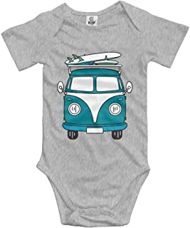 Travel Bus Summer Baby Short Sleeve Romper Bodysuit Jumpsuit Outfits