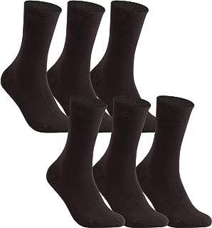 Calcetines de señora algodón unicolor, sin elástico, sin costura, en set de 6 o de 12 en muchos colores
