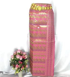 Myanmar Traditional Fashion Fabric for Clothing Dress Long longyi Skirt LY11