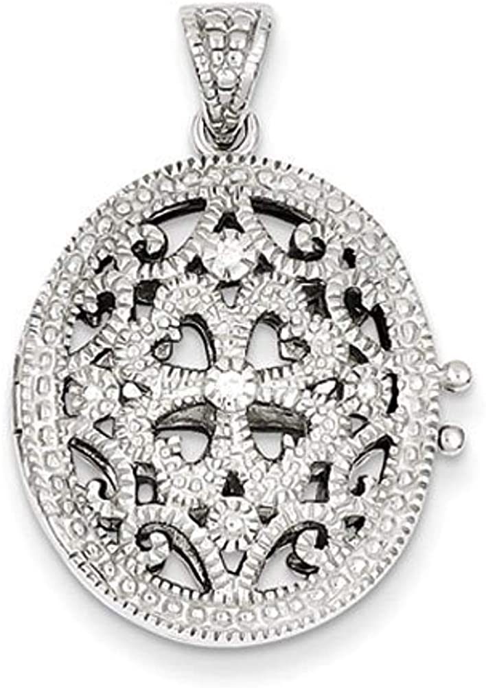 PicturesOnGold.com Gorgeous Premium Excellent Heavy Weight Loc Sterling Silver Oval