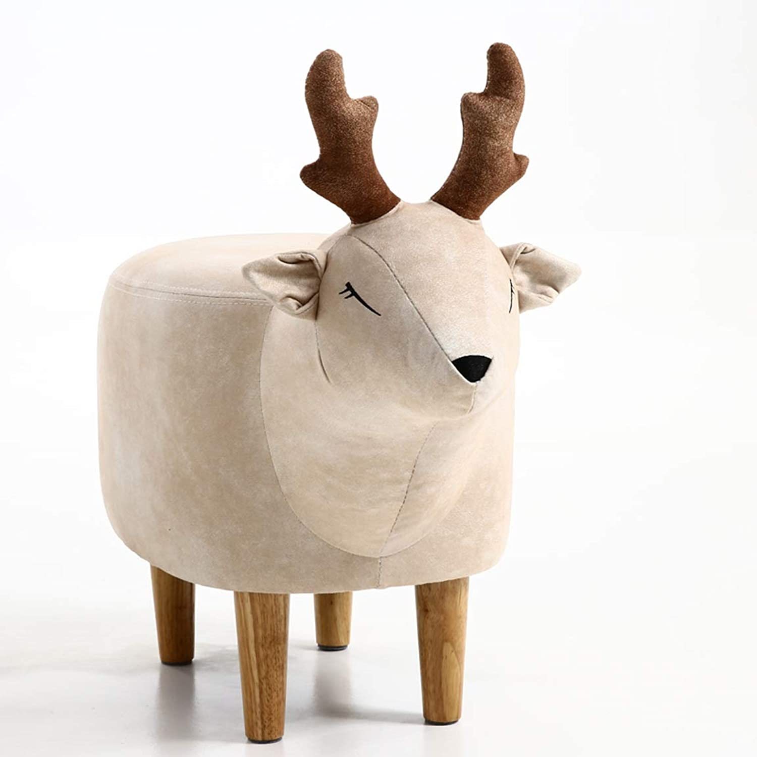 HLQW Creative Deer Modern Household shoes Stool Wearing shoes Stool Footstool Animal Footstool