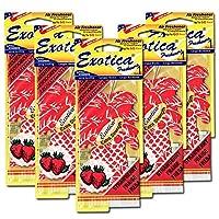 エキゾチカ パームツリー エアーフレッシュナー 5枚セット(ストロベリー)【Exotica Palm Tree Air Fresheners 5set(STRAWBERRY)】芳香剤 車 部屋 吊り下げ [並行輸入品]