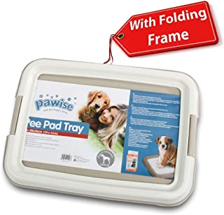PAWISE Pee Pad Holder - Puppy Training Pads - Best Portable Potty Trainer - Indoor Dog Potty - Puppy Essentials - Dog Training Holder - Puppy Pad Holder - Pet Pee Holder (L) 24x24 in