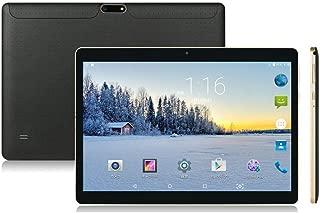 10インチ Android タブレット SIMカードスロット付き ‐ YELLYOUTH 10.1インチ クアッドコア 2GB RAM 32GB ROM 3G GSM 通話 タブレット Wifi GPS Bluetooth デュアルカメラ - ブラック