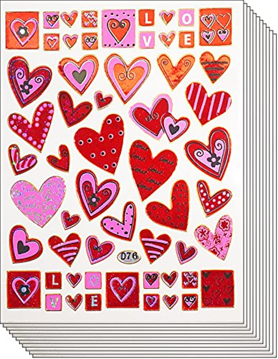 Jazzstick 430 Valentine's day Red & Pink Heart Stickers 10 sheets (VST01A19)