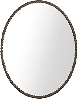 Hans & Alice Large Rectangular Bathroom Mirror, Wall-Mounted Wooden Frame Vanity Mirror (32